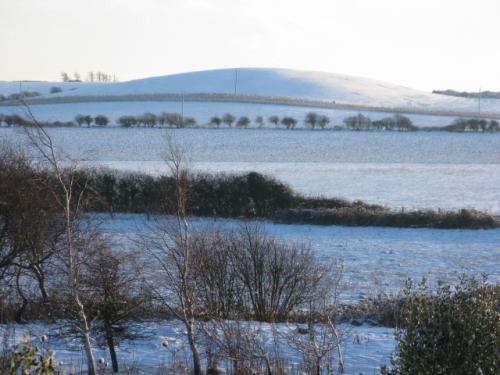 Snow on gun hill.