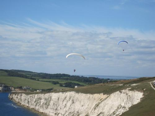 Flying the Wight Cliffs